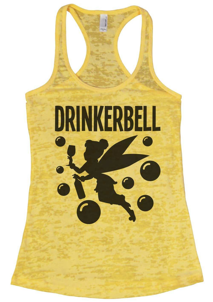 Drinkerbell Burnout Tank Top By Funny Threadz Funny Shirt Small / Yellow