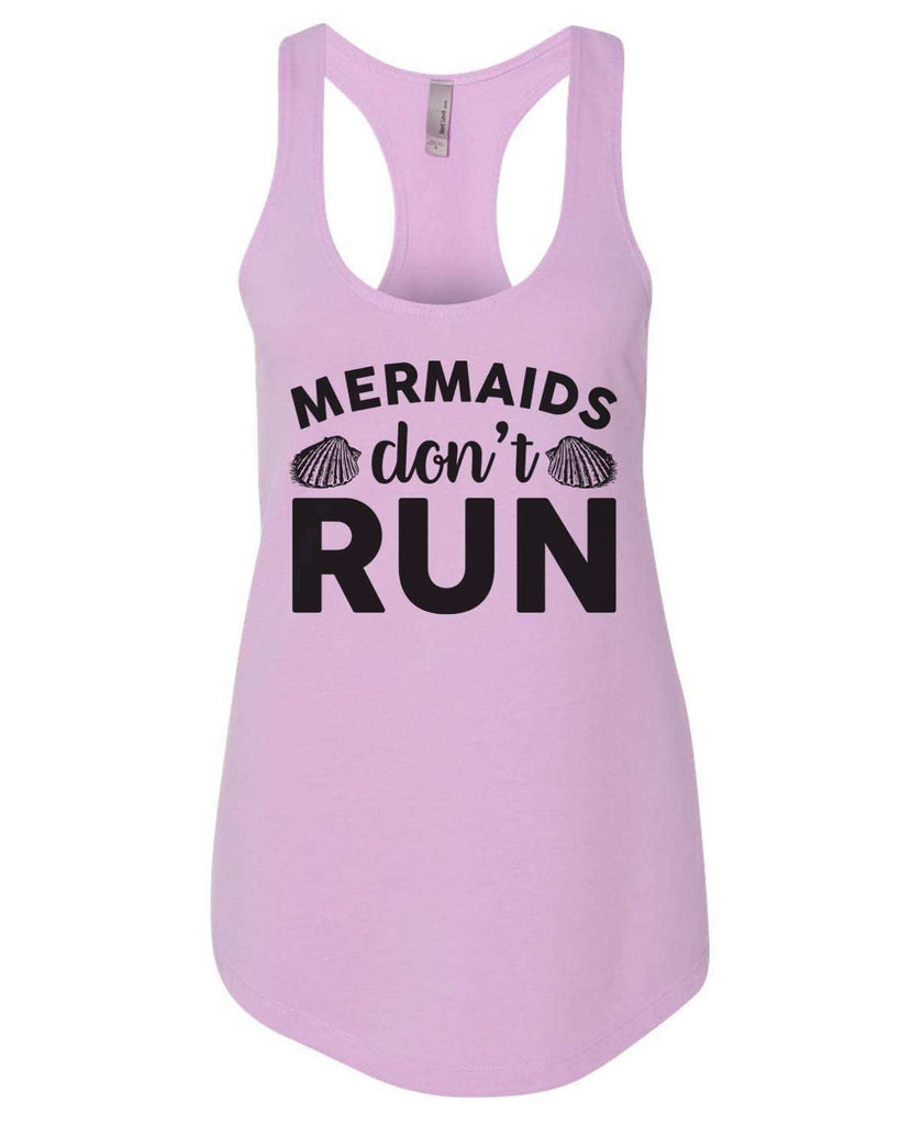 Mermaids Don'T Run Womens Workout Tank Top Funny Shirt Small / Lilac