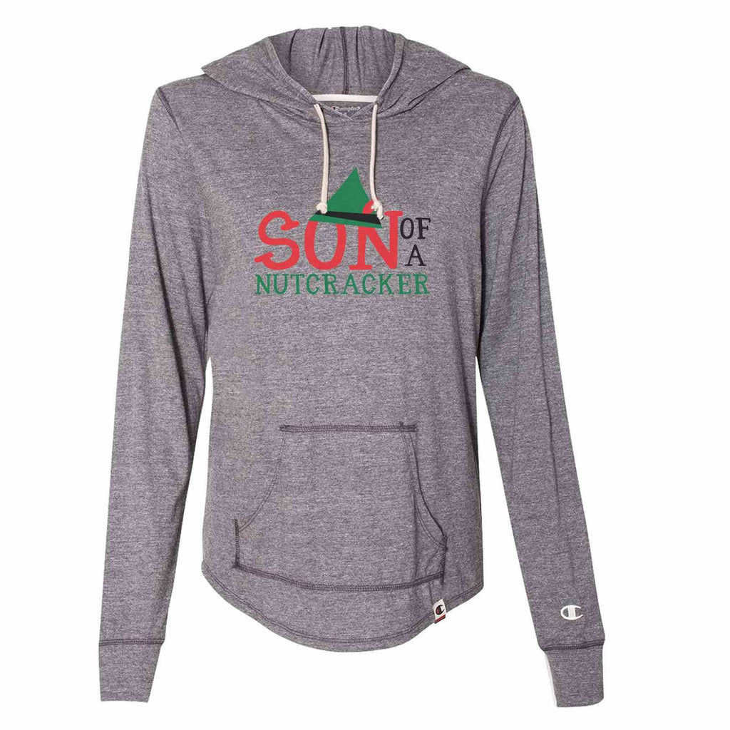 Son Of A Nutcracker - Womens Champion Brand Hoodie - Hooded Sweatshirt Funny Shirt Small / Dark Grey