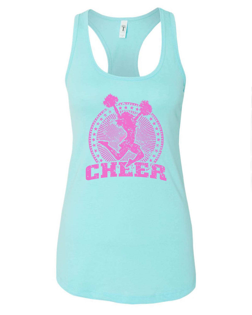 Womens Cheerleader Cheer Grapahic Design Fitted Tank Top Funny Shirt Small / Cancun