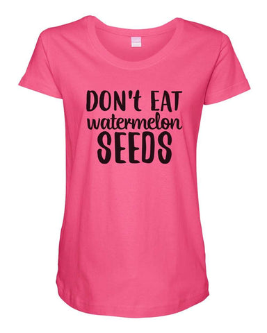 Womens Maternity TShirts - This Is My Last One Seriously - Pregnancy Tee - 2238
