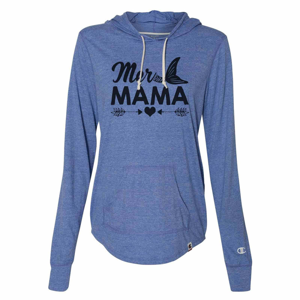 Mer Mama - Womens Champion Brand Hoodie - Hooded Sweatshirt Funny Shirt Small / Blue
