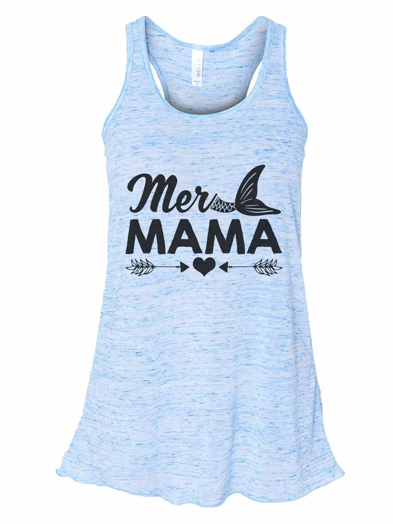Mer Mama - Bella Canvas Womens Tank Top - Gathered Back & Super Soft Funny Shirt Small / Blue Marble