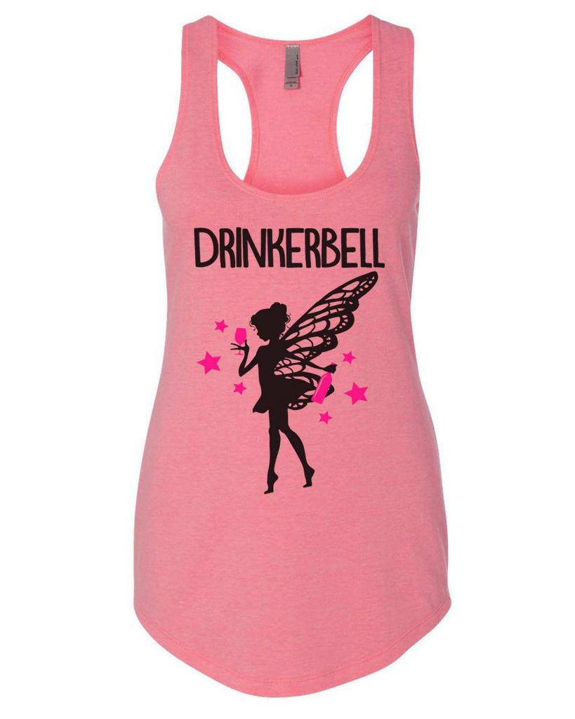 Drinkerbell Womens Workout Tank Top Funny Shirt Small / Heather Pink