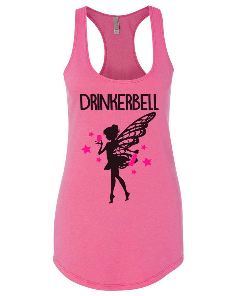 Drinkerbell Womens Workout Tank Top Funny Shirt Small / Hot Pink