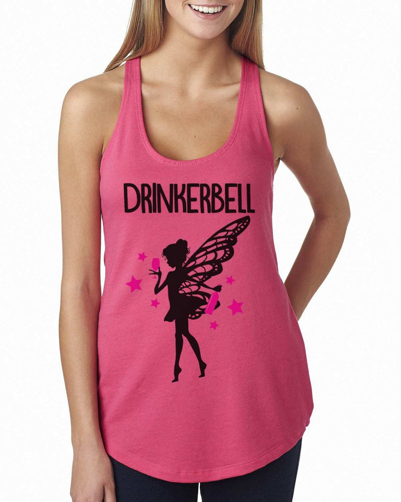 Drinkerbell Womens Workout Tank Top Funny Shirt