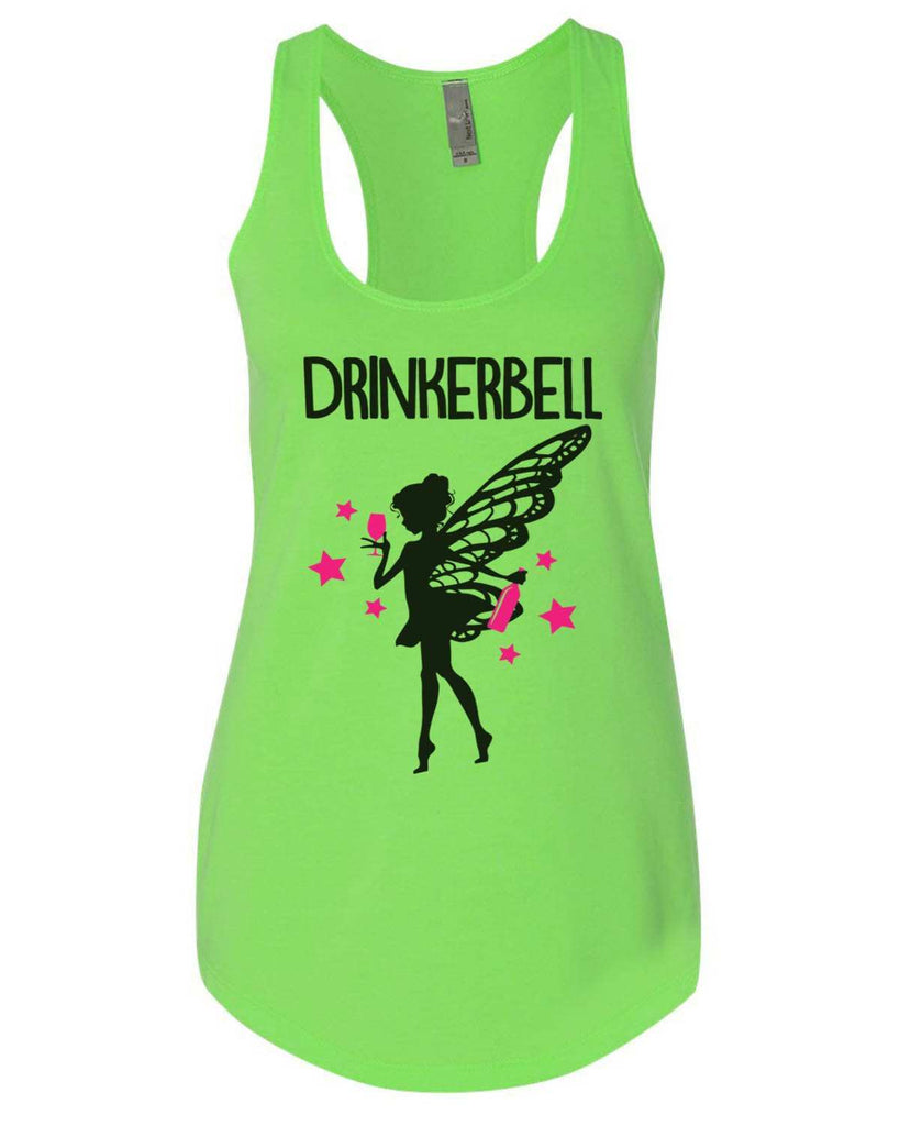 Drinkerbell Womens Workout Tank Top Funny Shirt Small / Neon Green