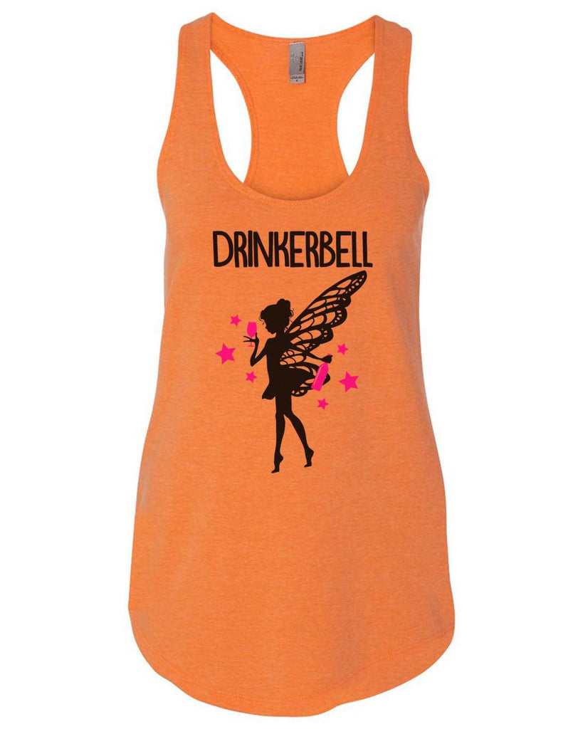 Drinkerbell Womens Workout Tank Top Funny Shirt Small / Neon Orange