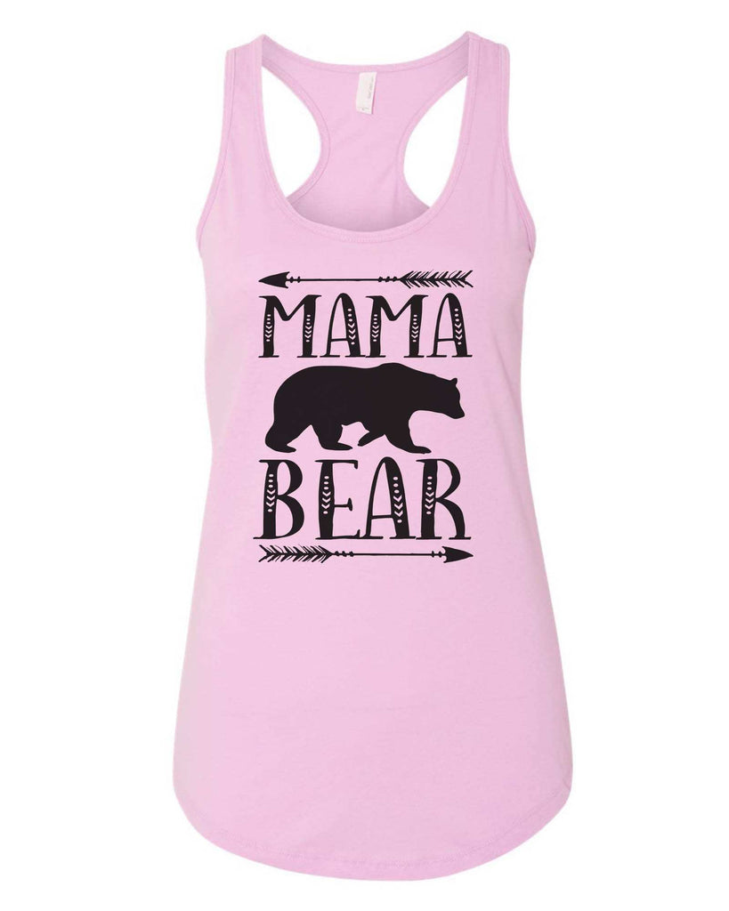Womens Mama Bear Grapahic Design Fitted Tank Top Funny Shirt Small / Lilac