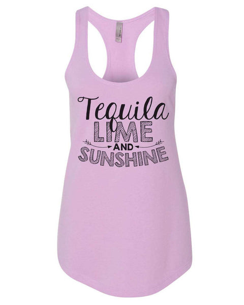 Tequila Lime And Sunshine Womens Workout Tank Top Funny Shirt Small / Lilac