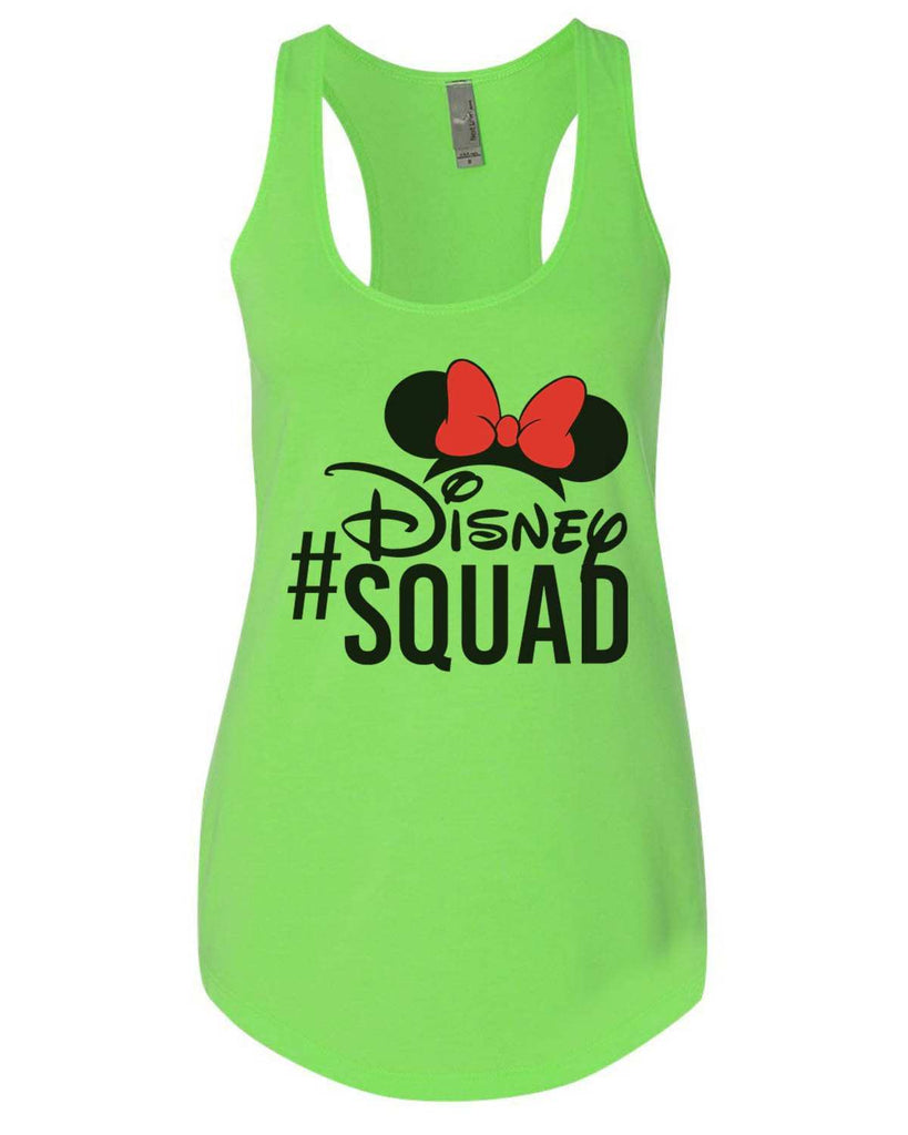 Disney Squad Womens Workout Tank Top Funny Shirt Small / Neon Green