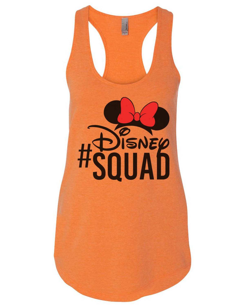 Disney Squad Womens Workout Tank Top Funny Shirt Small / Neon Orange