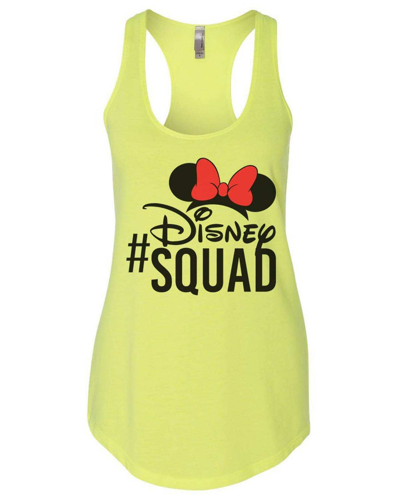 Disney Squad Womens Workout Tank Top Funny Shirt Small / Neon Yellow