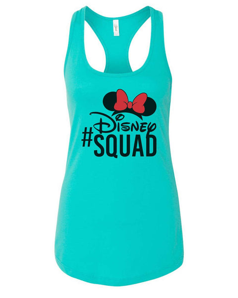 Womens Disney Squad Grapahic Design Fitted Tank Top Funny Shirt Small / Sky Blue