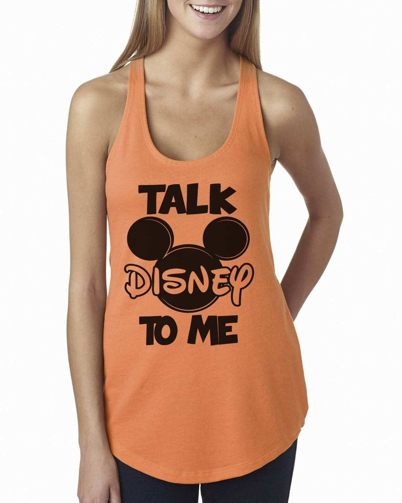 Talk Disney To Me Womens Workout Tank Top Funny Shirt