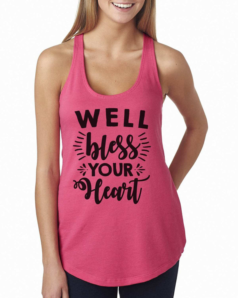 Well Bless Your Heart Womens Workout Tank Top Funny Shirt