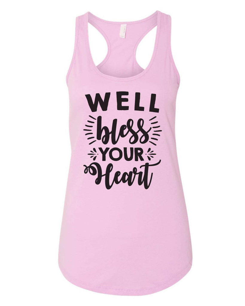 Womens Well Bless Your Heart Grapahic Design Fitted Tank Top Funny Shirt Small / Lilac