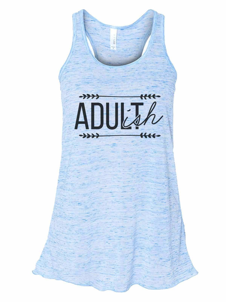 Adult-Ish - Bella Canvas Womens Tank Top - Gathered Back & Super Soft Funny Shirt Small / Blue Marble