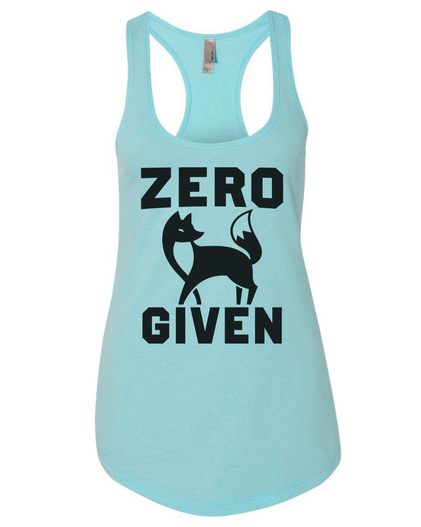 Zero Fox Given Womens Workout Tank Top Funny Shirt Small / Cancun Blue
