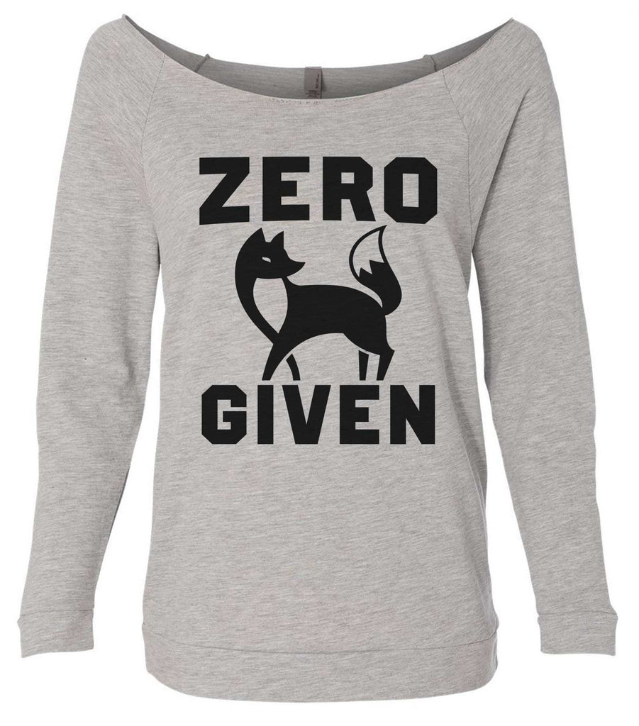 Zero Fox Given 3/4 Sleeve Raw Edge French Terry Cut - Dolman Style Very Trendy Funny Shirt Small / Grey