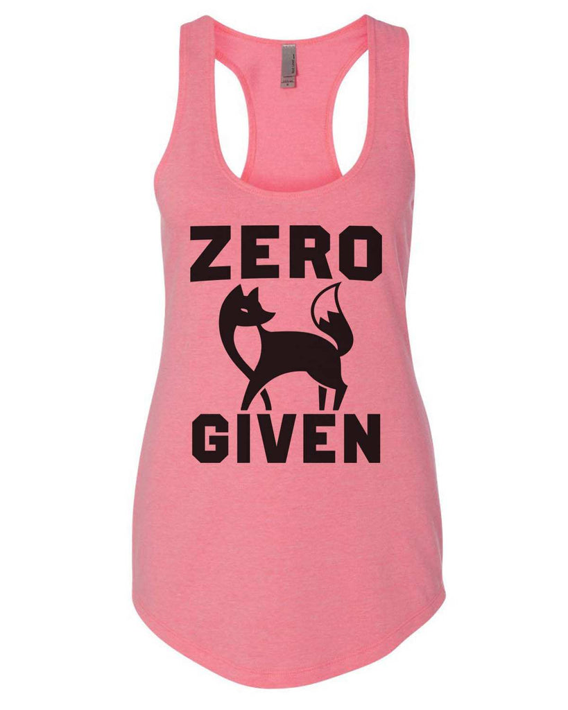 Zero Fox Given Womens Workout Tank Top Funny Shirt Small / Heather Pink