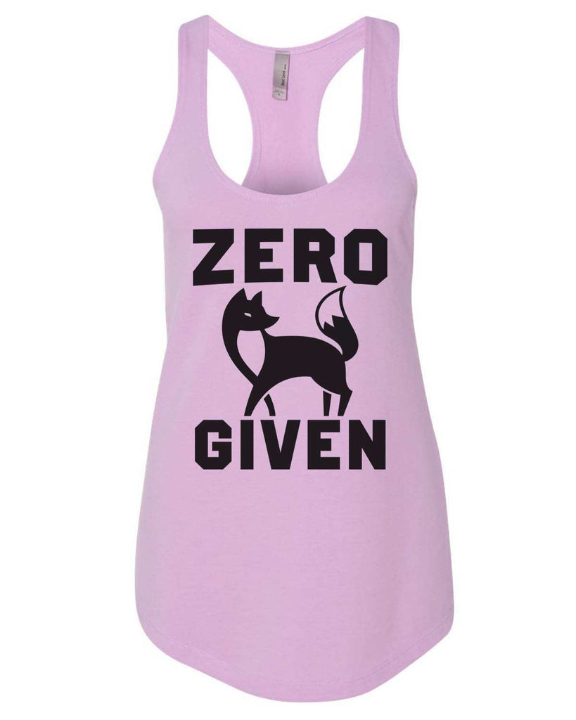 Zero Fox Given Womens Workout Tank Top Funny Shirt Small / Lilac