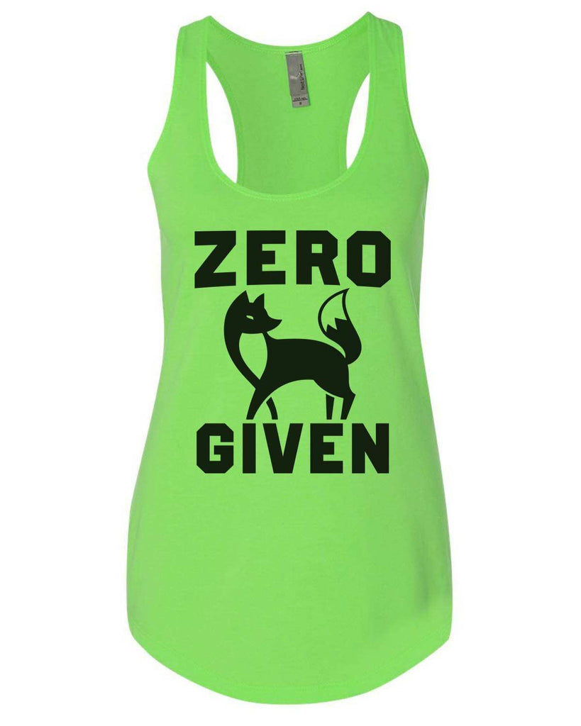 Zero Fox Given Womens Workout Tank Top Funny Shirt Small / Neon Green