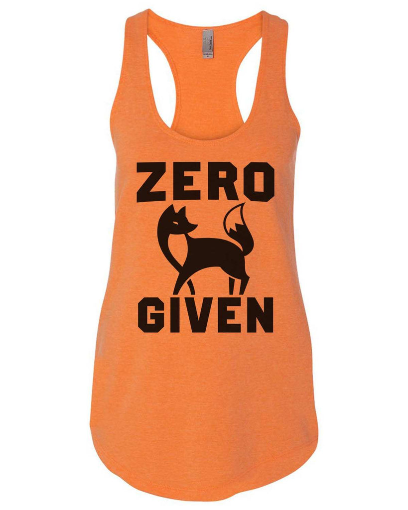 Zero Fox Given Womens Workout Tank Top Funny Shirt Small / Neon Orange