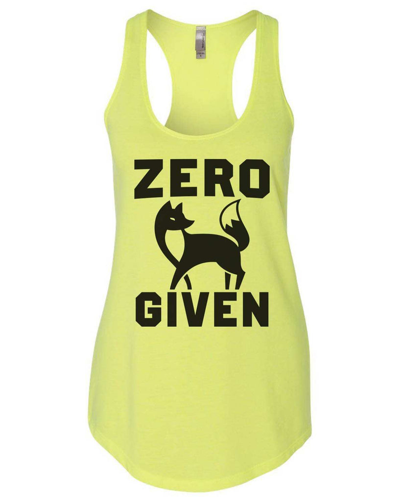 Zero Fox Given Womens Workout Tank Top Funny Shirt Small / Neon Yellow