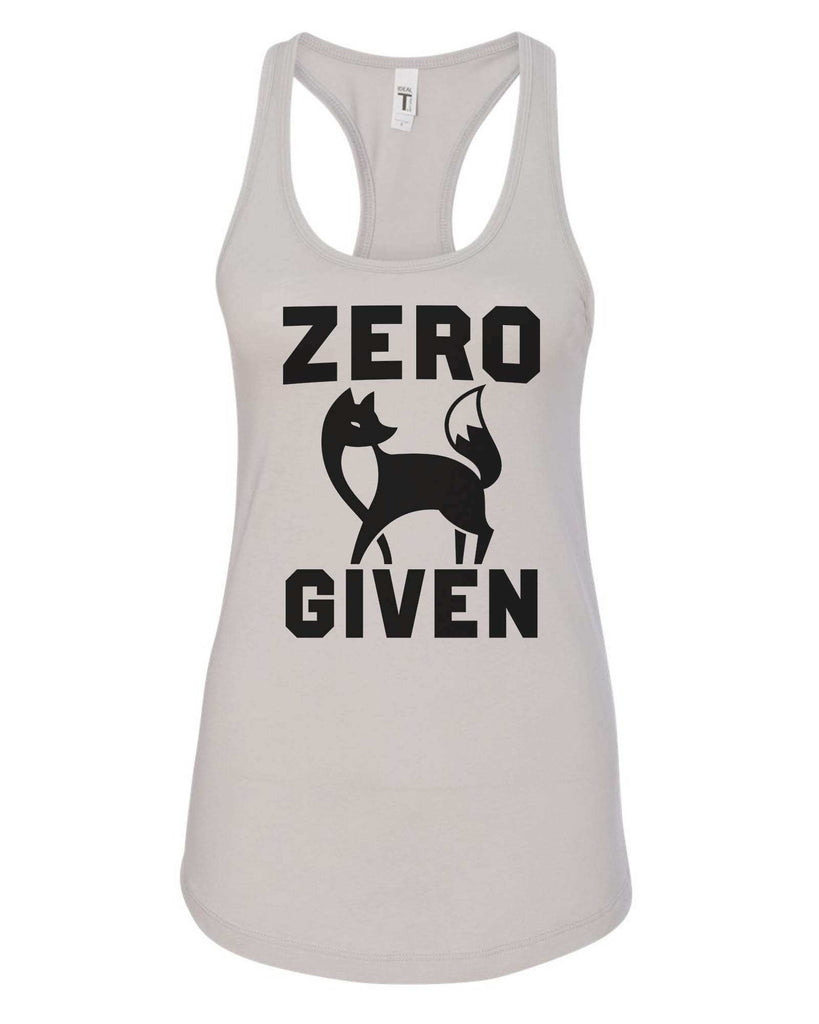 Womens Zero Fox Given Grapahic Design Fitted Tank Top Funny Shirt Small / Silver