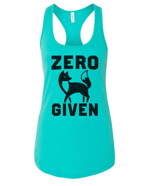Womens Zero Fox Given Grapahic Design Fitted Tank Top Funny Shirt Small / Sky Blue