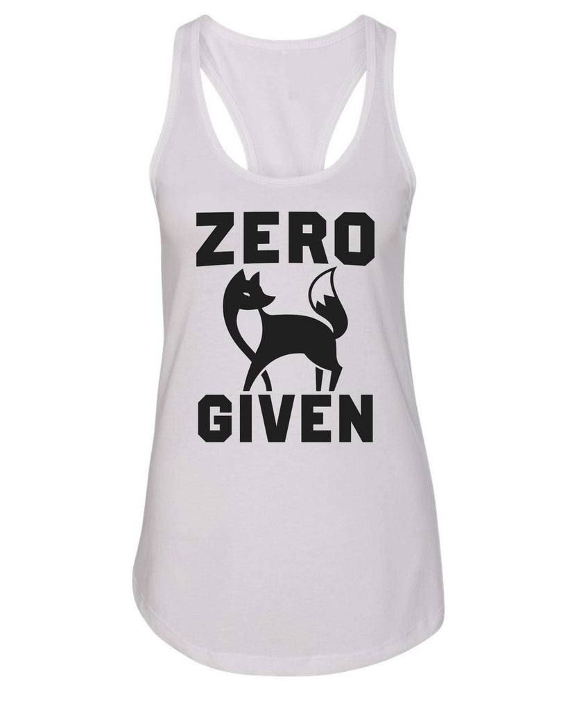Womens Zero Fox Given Grapahic Design Fitted Tank Top Funny Shirt Small / White
