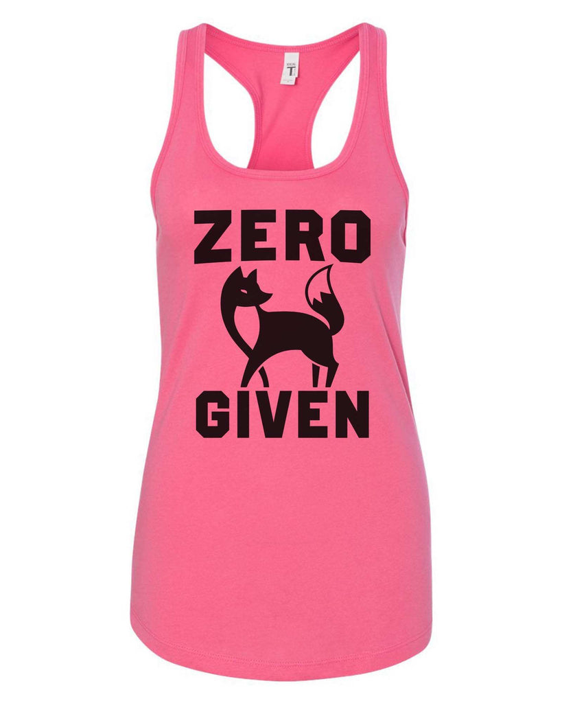 Womens Zero Fox Given Grapahic Design Fitted Tank Top Funny Shirt Small / Fuchsia
