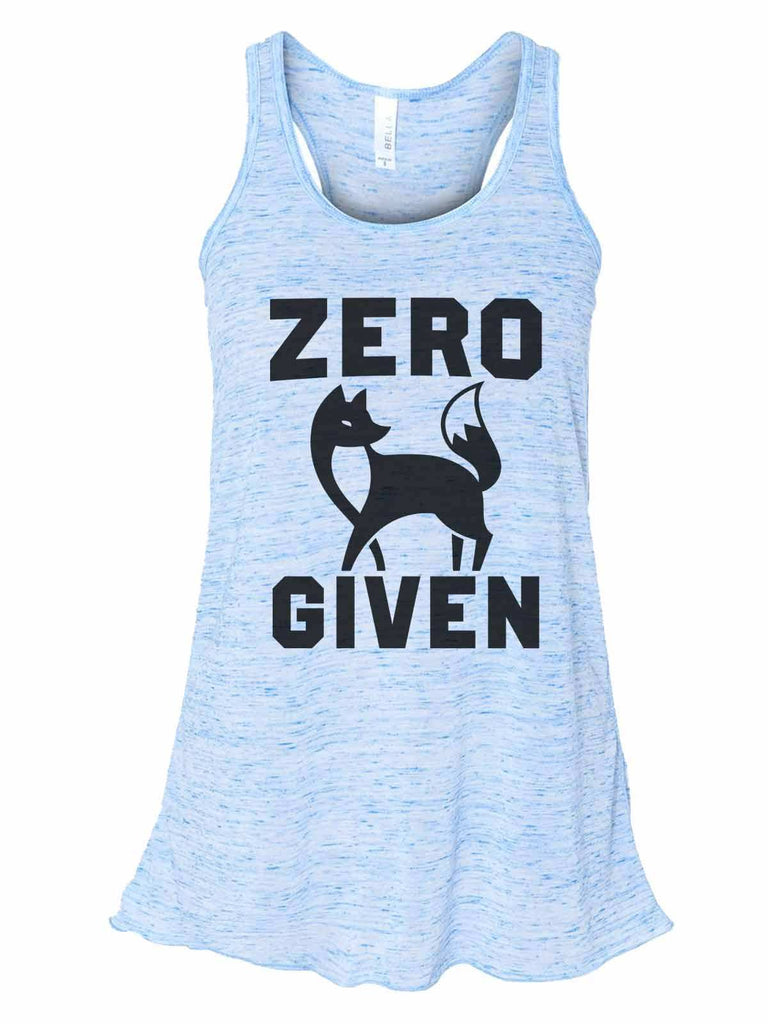 Zero Fox Given - Bella Canvas Womens Tank Top - Gathered Back & Super Soft Funny Shirt Small / Blue Marble