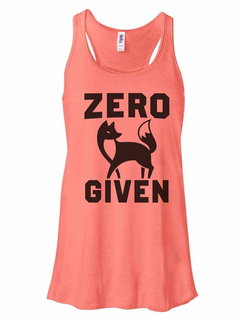 Zero Fox Given - Bella Canvas Womens Tank Top - Gathered Back & Super Soft Funny Shirt Small / Coral
