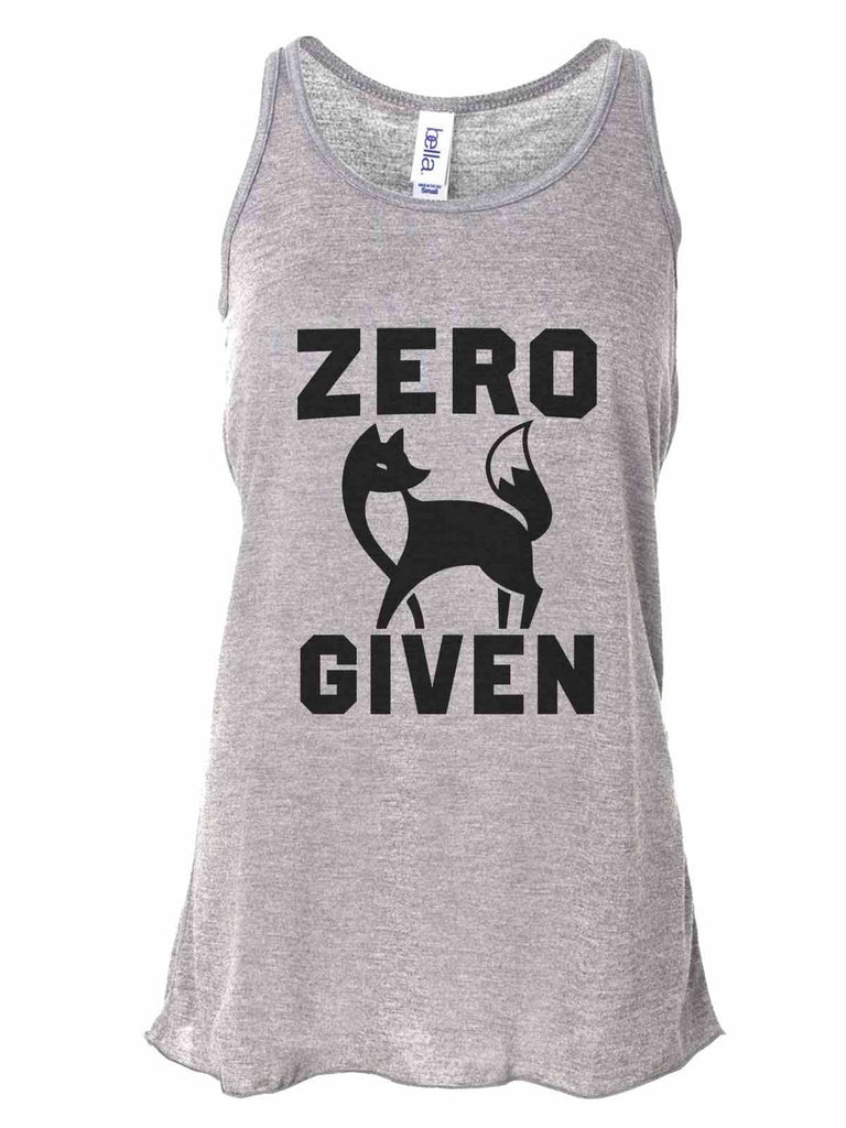 fb9a53756e499a Zero Fox Given - Bella Canvas Womens Tank Top - Gathered Back   Super Soft