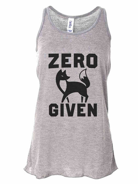 Zero Fox Given - Bella Canvas Womens Tank Top - Gathered Back & Super Soft Funny Shirt Small / Gray