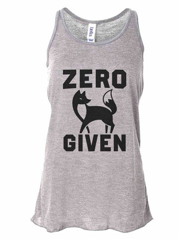 Zero Fox Given - Bella Canvas Womens Tank Top - Gathered Back & Super Soft