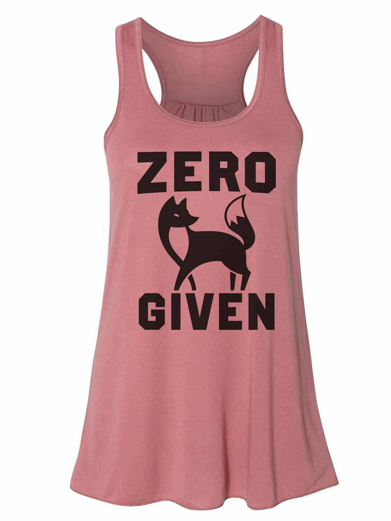 Zero Fox Given - Bella Canvas Womens Tank Top - Gathered Back & Super Soft Funny Shirt Small / Mauve