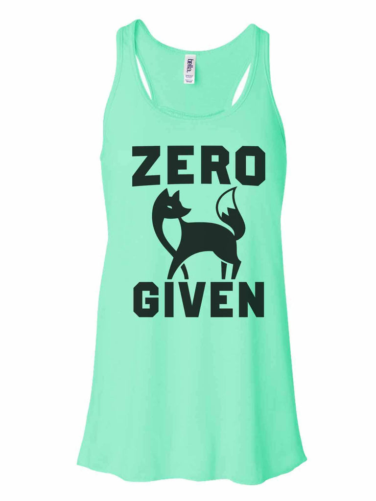Zero Fox Given - Bella Canvas Womens Tank Top - Gathered Back & Super Soft Funny Shirt Small / Mint