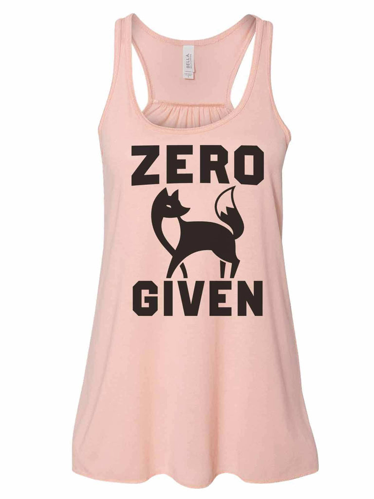 Zero Fox Given - Bella Canvas Womens Tank Top - Gathered Back & Super Soft Funny Shirt Small / Peach