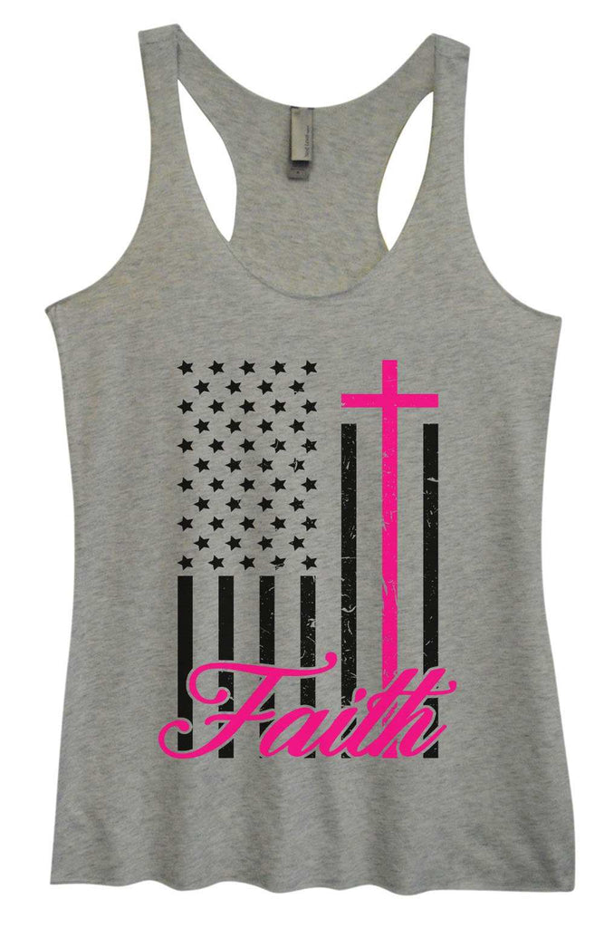 Womens Tri-Blend Tank Top - Faith Funny Shirt Small / Vintage Grey
