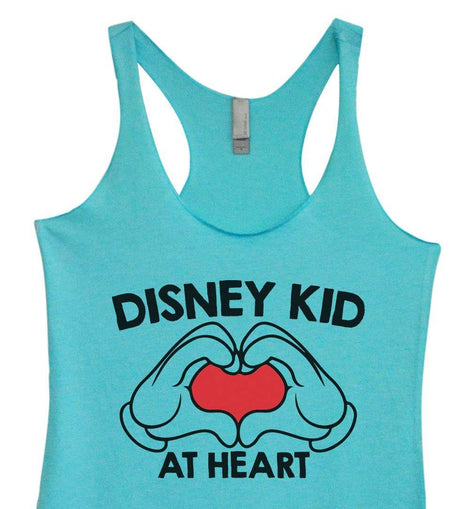 Womens Tri-Blend Tank Top - Disney Kid at Heart Funny Shirt Small / Vintage Blue