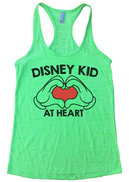 Disney Kid At Heart Womens Burnout Tank Top By Funny Threadz Funny Shirt Small / Neon Green