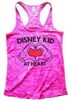 Disney Kid At Heart Womens Burnout Tank Top By Funny Threadz Funny Shirt Small / Shocking Pink