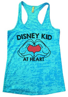 Disney Kid At Heart Womens Burnout Tank Top By Funny Threadz Funny Shirt Small / Tahiti Blue