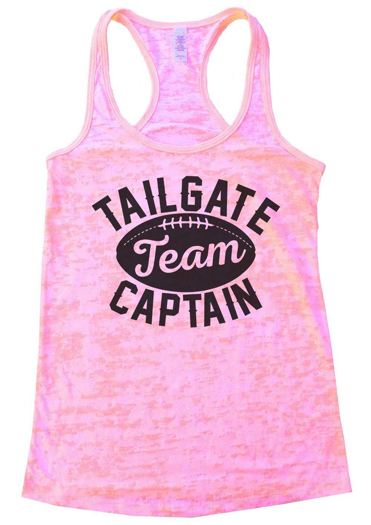 Tailgate Team Captain Womens Burnout Tank Top By Funny Threadz Funny Shirt Small / Light Pink