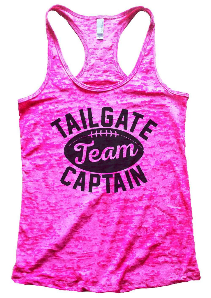 Tailgate Team Captain Womens Burnout Tank Top By Funny Threadz Funny Shirt Small / Shocking Pink