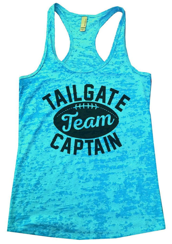 Tailgate Team Captain Womens Burnout Tank Top By Funny Threadz Funny Shirt Small / Tahiti Blue