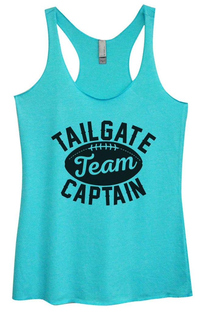 Womens Tri-Blend Tank Top - Tailgate Team Captain Funny Shirt Small / Vintage Blue